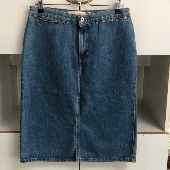 official site buying new shop GAP Vintage denim below the knee pencil skirt 8